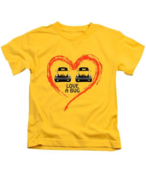 Love A Bug Kids T-Shirt by Mark Rogan