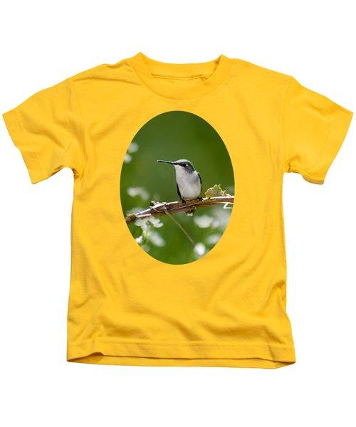 Meadow Hummingbird Kids T-Shirt by Christina Rollo