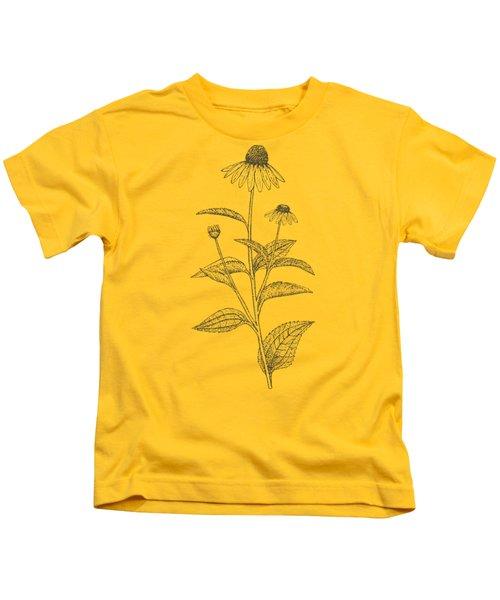 Medicinal Herb Echinacea Kids T-Shirt