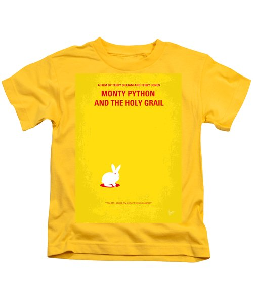 No036 My Monty Python And The Holy Grail Minimal Movie Poster Kids T-Shirt by Chungkong Art