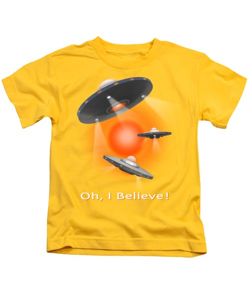 Oh I Believe  Se Kids T-Shirt by Mike McGlothlen