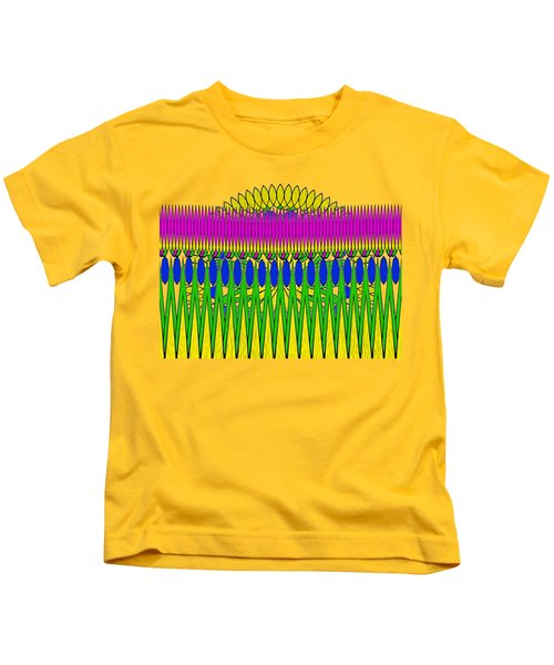 Peeking Sun Abstract By Kaye Menner Kids T-Shirt