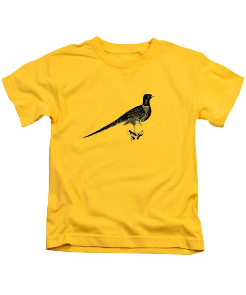Pheasant Kids T-Shirt by Mark Rogan