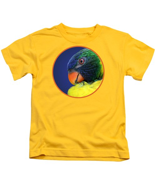 Profile Of A Lorikeet Kids T-Shirt