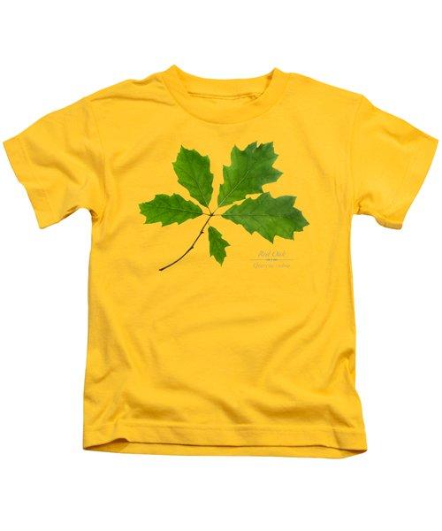 Red Oak Leaves Kids T-Shirt