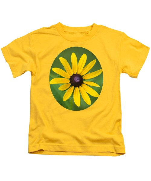 Rudbeckia Flower Kids T-Shirt by Christina Rollo