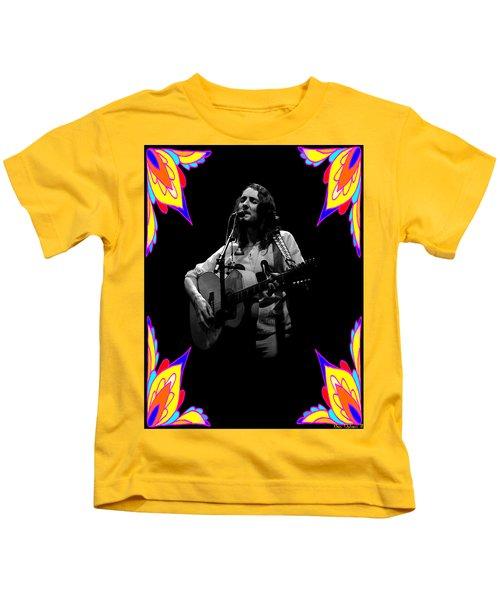 S#14 Enhanced Bw In Flower Frame Kids T-Shirt