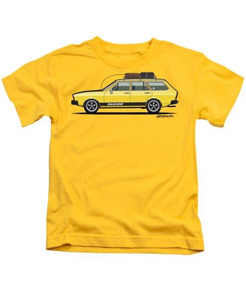 Saturn Yellow Volkswagen Dasher Wagon Kids T-Shirt