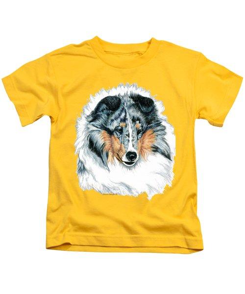 Shetland Sheepdog, Sheltie, Blue Merle Kids T-Shirt