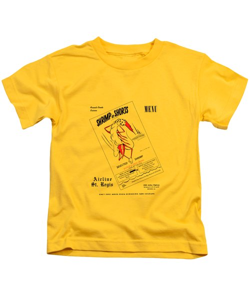 Shrimp In Shorts 1950s Kids T-Shirt