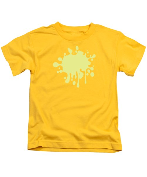 Solid Yellow Pastel Color Kids T-Shirt by Garaga Designs