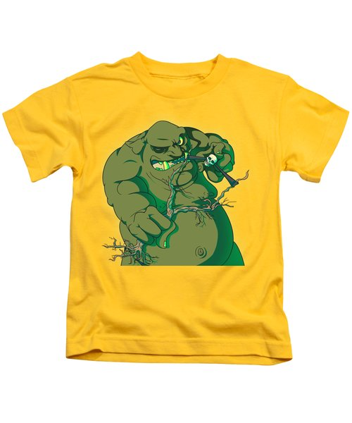 Storybook Ogre Shooting Heads Kids T-Shirt by Jorgo Photography - Wall Art Gallery