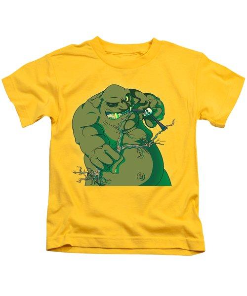 Storybook Ogre Shooting Heads Kids T-Shirt