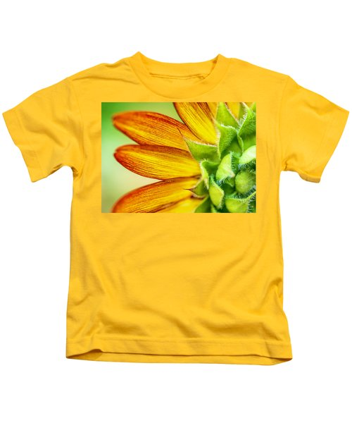 Sunflower Macro 1 Kids T-Shirt