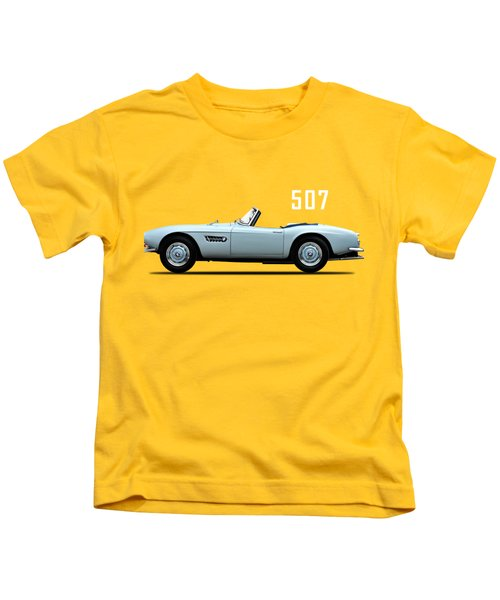 The Bmw 507 Kids T-Shirt by Mark Rogan
