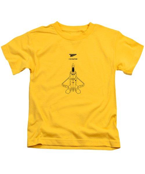 The F-22 Raptor Kids T-Shirt by Mark Rogan