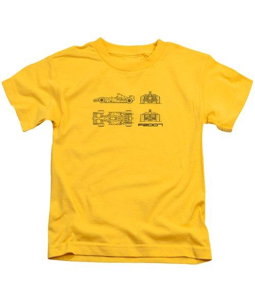 The F2007 Gp Blueprint - White Kids T-Shirt