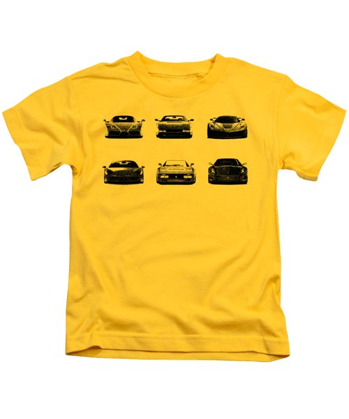 The Italian Supercar Collection Kids T-Shirt