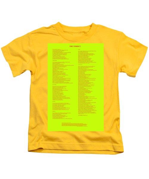 The Verdict Kids T-Shirt