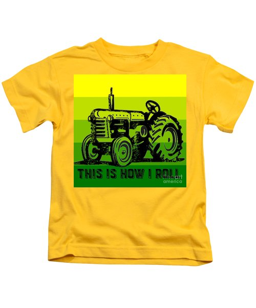 This Is How I Roll Tractor Tee Kids T-Shirt