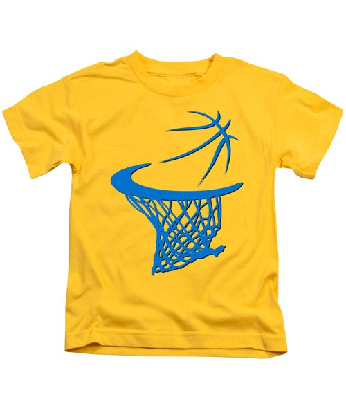 Thunder Basketball Hoop Kids T-Shirt