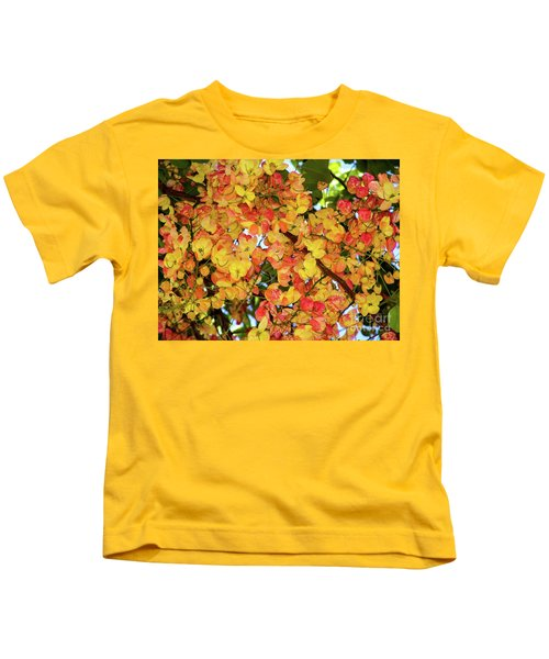 Trees And Flowers In Hawaii Kids T-Shirt