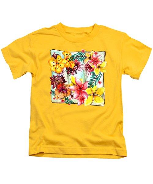 Tropicana By Kaye Menner Kids T-Shirt by Kaye Menner