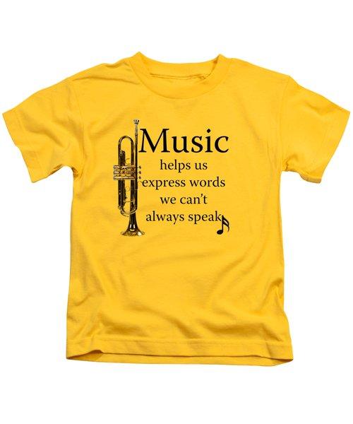 Trumpet Music Expresses Words Kids T-Shirt