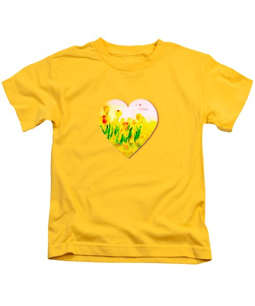 Tulips In Springtime Kids T-Shirt