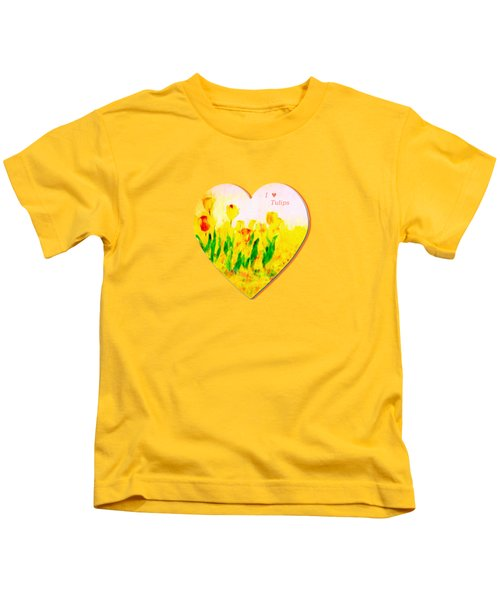 Tulips In Springtime-floral Painting By V.kelly Kids T-Shirt