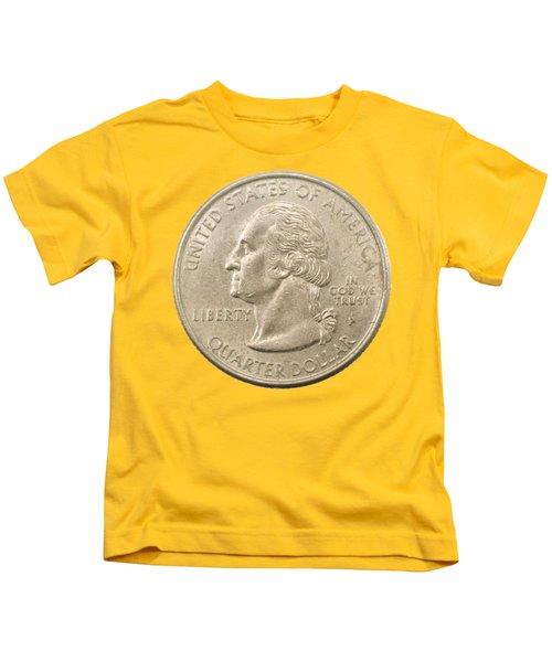 Us One Quarter Dollar Coin  Kids T-Shirt