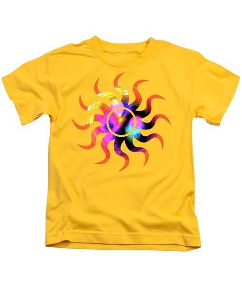 Vibrant Circle On Orange Kids T-Shirt