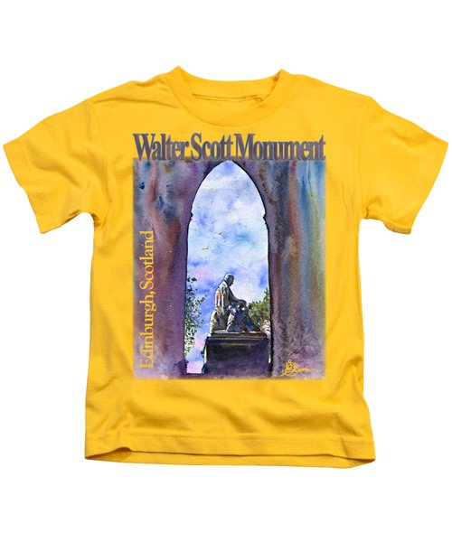 Walter Scott Monument Shirt Kids T-Shirt