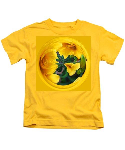 Yellow Lily Orb Kids T-Shirt