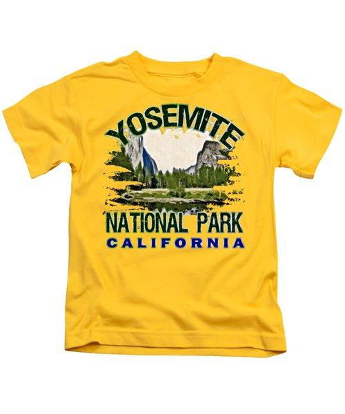 Yosemite National Park Kids T-Shirt by David G Paul