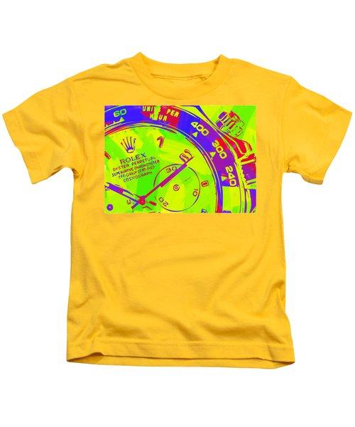 Abstract Rolex Digital Paint 12 Kids T-Shirt