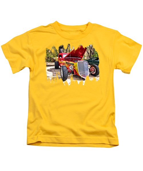 Red And Yellow  Kids T-Shirt