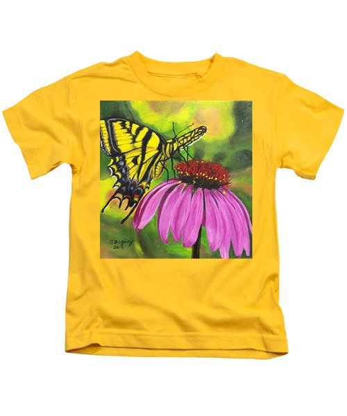 Black-sampson Echinacea Kids T-Shirt
