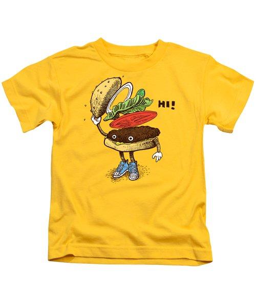Burger Greeting Kids T-Shirt