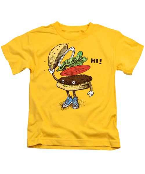 Burger Greeting Kids T-Shirt