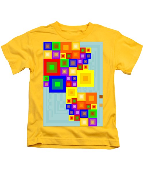 Colourful Cubism  Kids T-Shirt