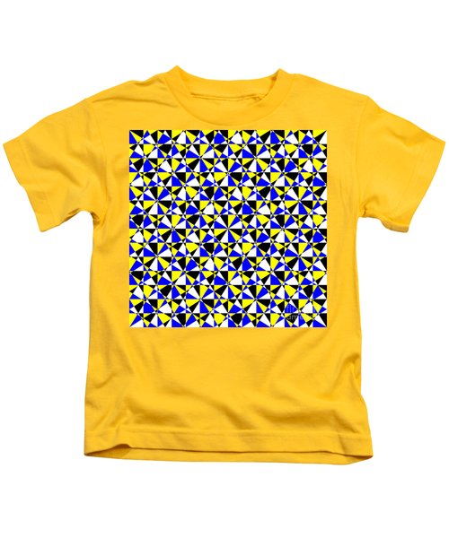 Crazy Psychedelic Art In Chaotic Visual Color And Shapes - Efg22 Kids T-Shirt