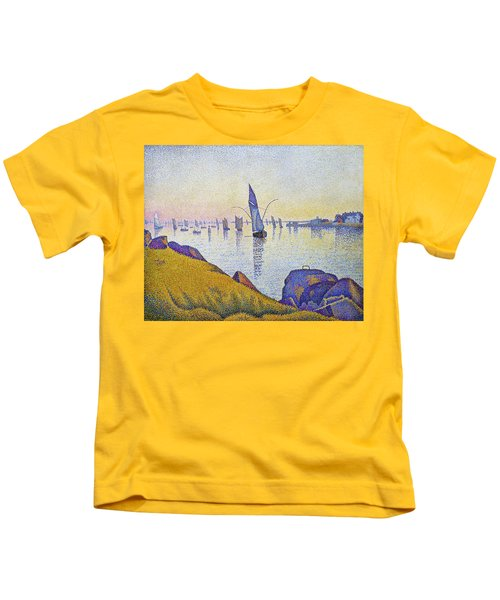 Evening Calm, Concarneau - Digital Remastered Edition Kids T-Shirt