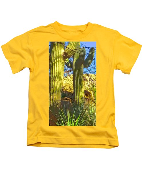 In The Shadow Of Saguaros Kids T-Shirt