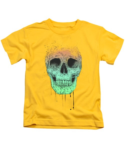 Pop Art Skull Kids T-Shirt