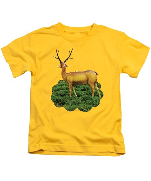 Pretty Deers Playing In The Forest. Kids T-Shirt