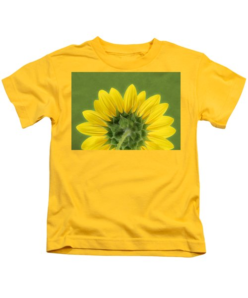 Sunflower Sunrise - Botanical Art Kids T-Shirt