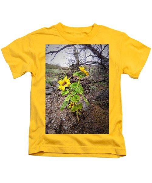 Wild Desert Sunflower Kids T-Shirt