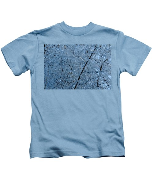 Vegetation After Ice Storm  Kids T-Shirt