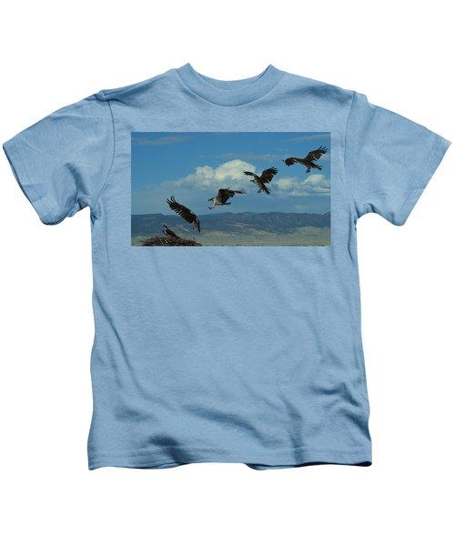 Landing Pattern Of The Osprey Kids T-Shirt